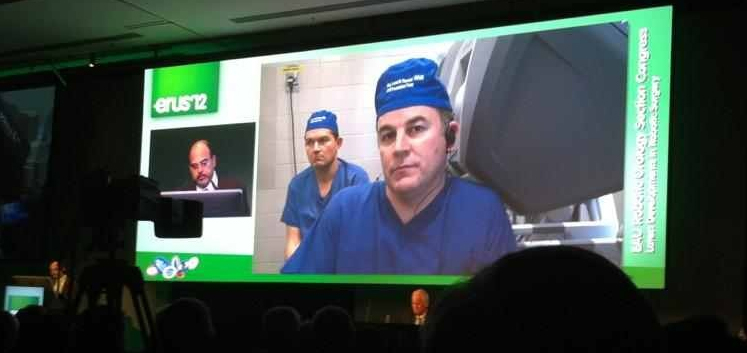 Doing robotic radical prostatectomy at ERUS 2012