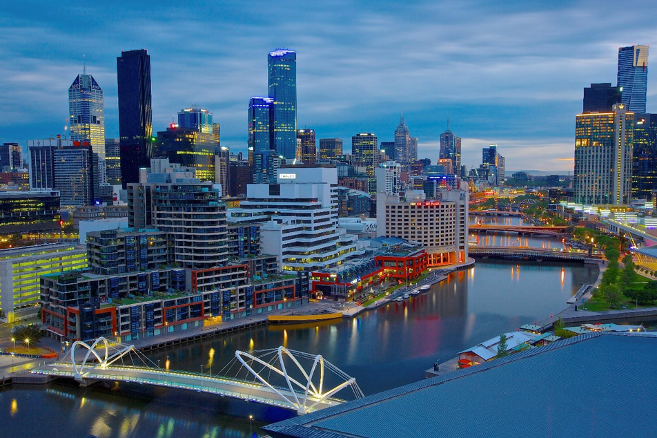 USPSTF PSA screening: Scenic Melbourne at dusk